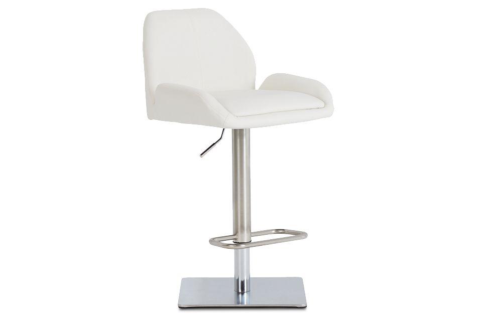 Fairfax White Uph Adjustable Stool,  (1)