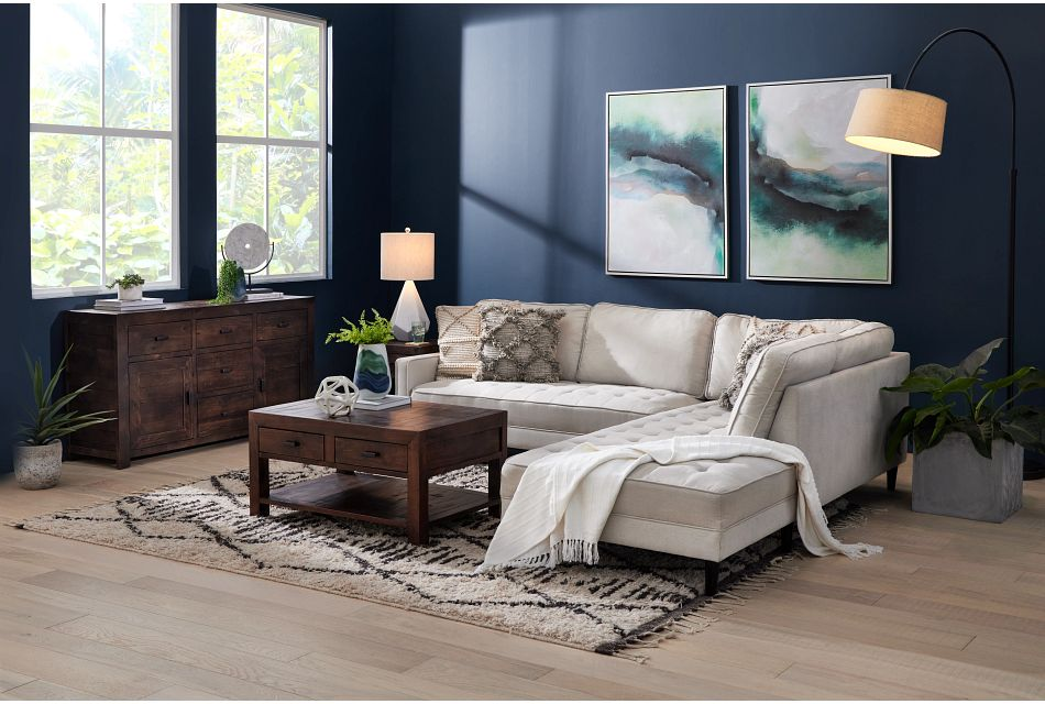 Eli Taupe Micro Right Chaise Sectional,  (0)