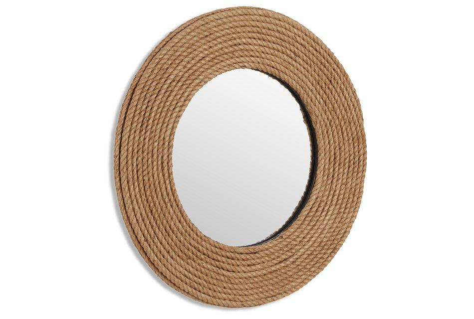 Sandy Jute Mirror