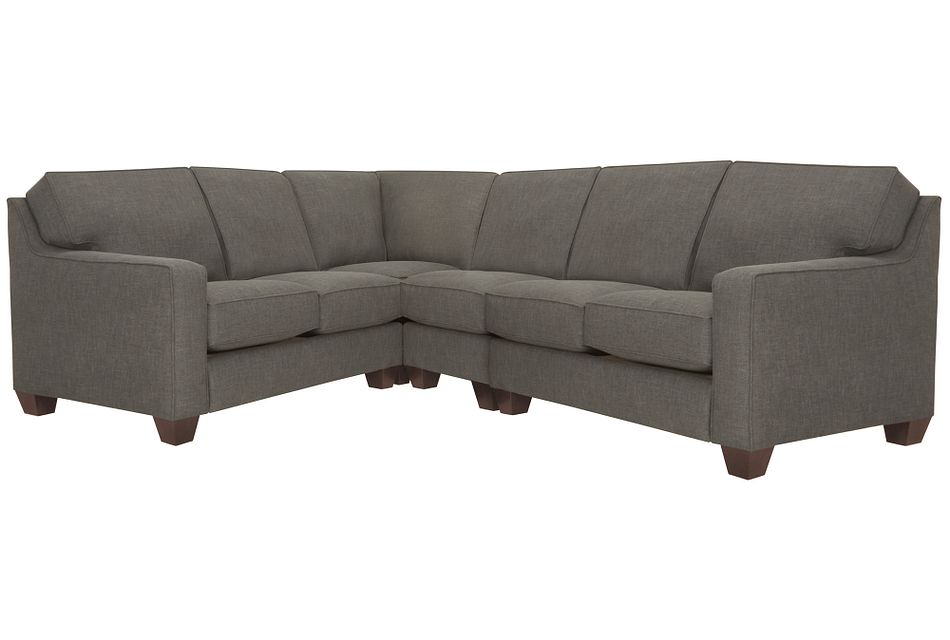 York Dark Gray Fabric Large Two-arm Sectional