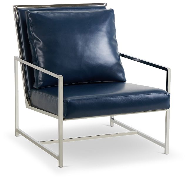 Harvey Blue Uph Accent Chair (1)