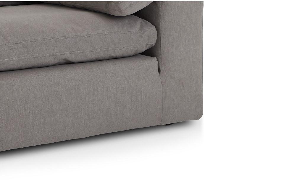 Nixon Light Gray Fabric Corner Chair