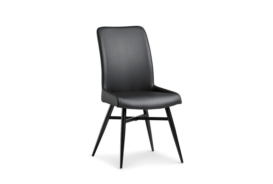 Lemans BLACK  Upholstered Side Chair,  (0)