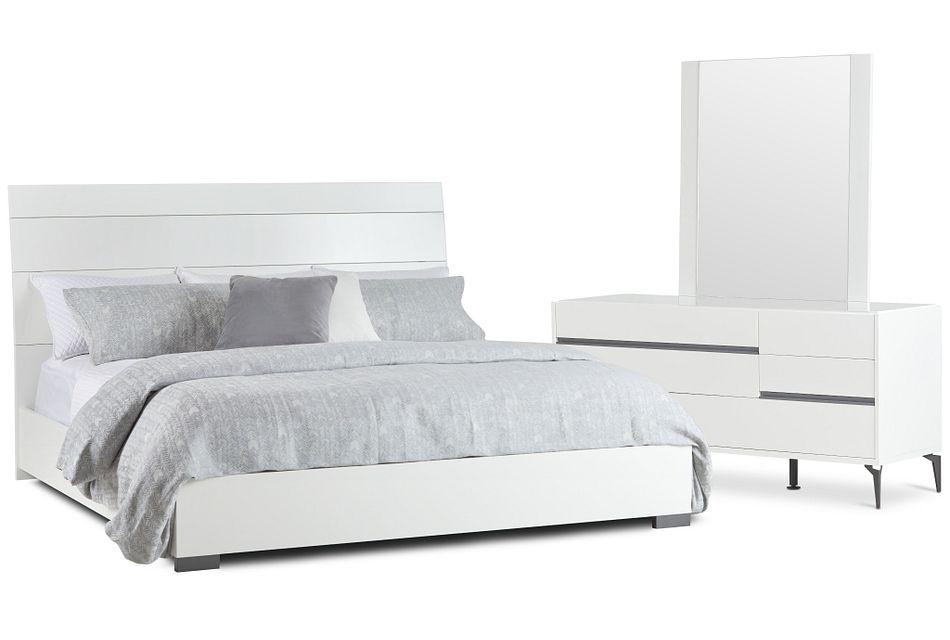 Oslo White Platform Bedroom
