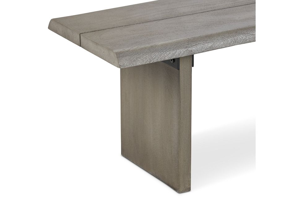 Carmel Gray Wood Dining Bench