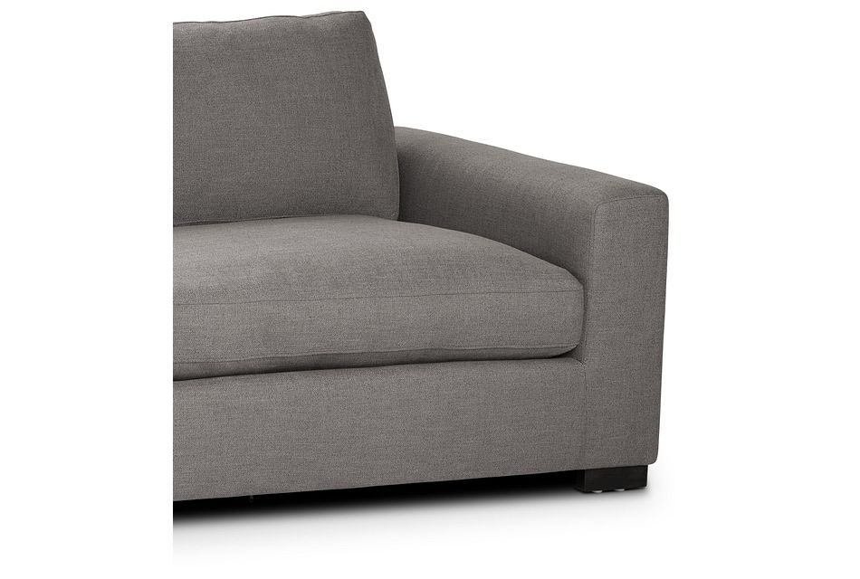 "Bohan 89"" Dark Gray Fabric Sofa"