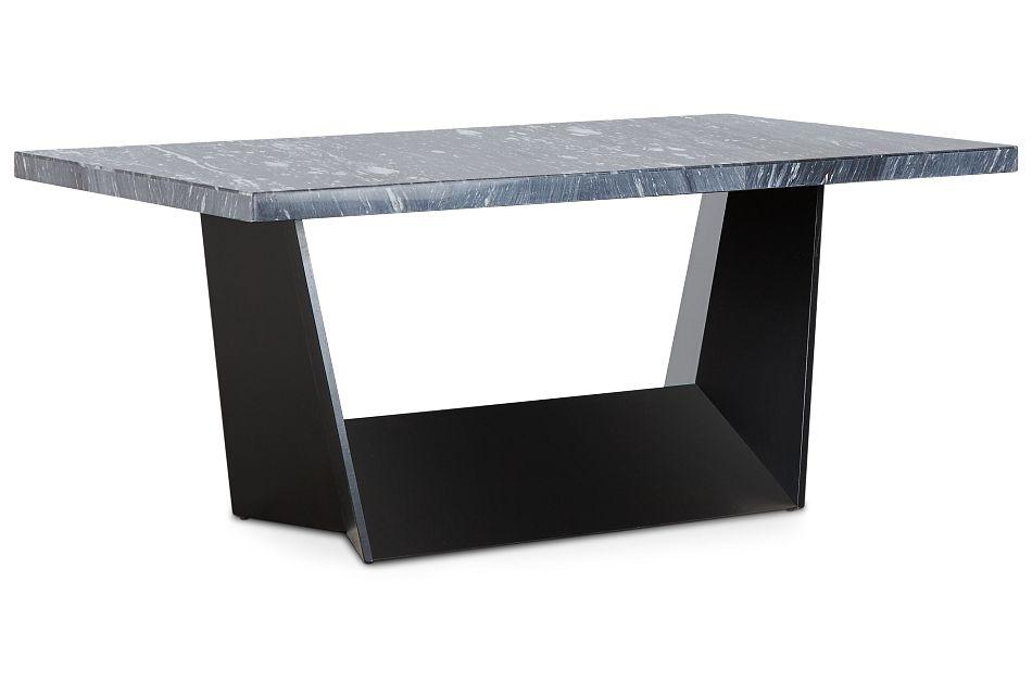 Auburn Dark Gray Marble Rectangular Table,  (2)