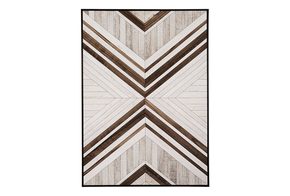 Shapes White Canvas Wall Art