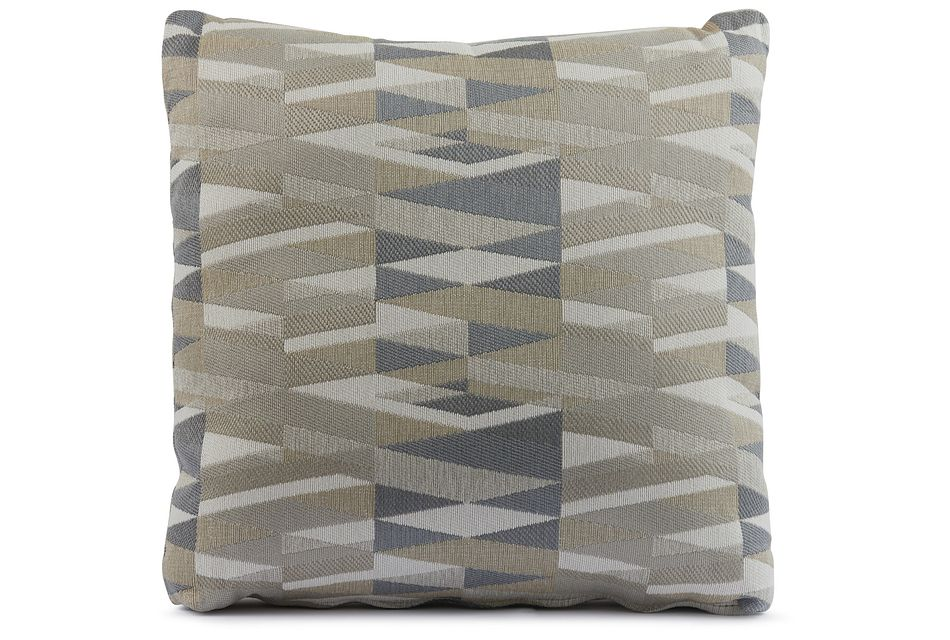 "Derailed Light Beige 18"" Accent Pillow"