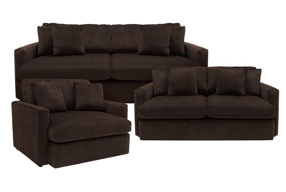 Tara2 Dark Brown  Micro Living Room