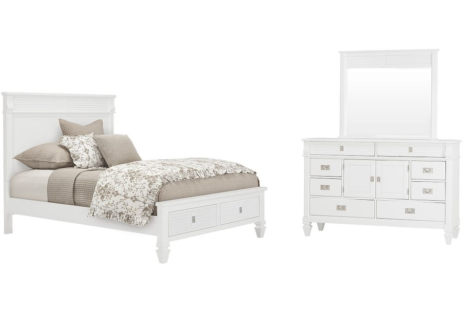 Marina WHITE  Panel Storage Bedroom, Queen (0)