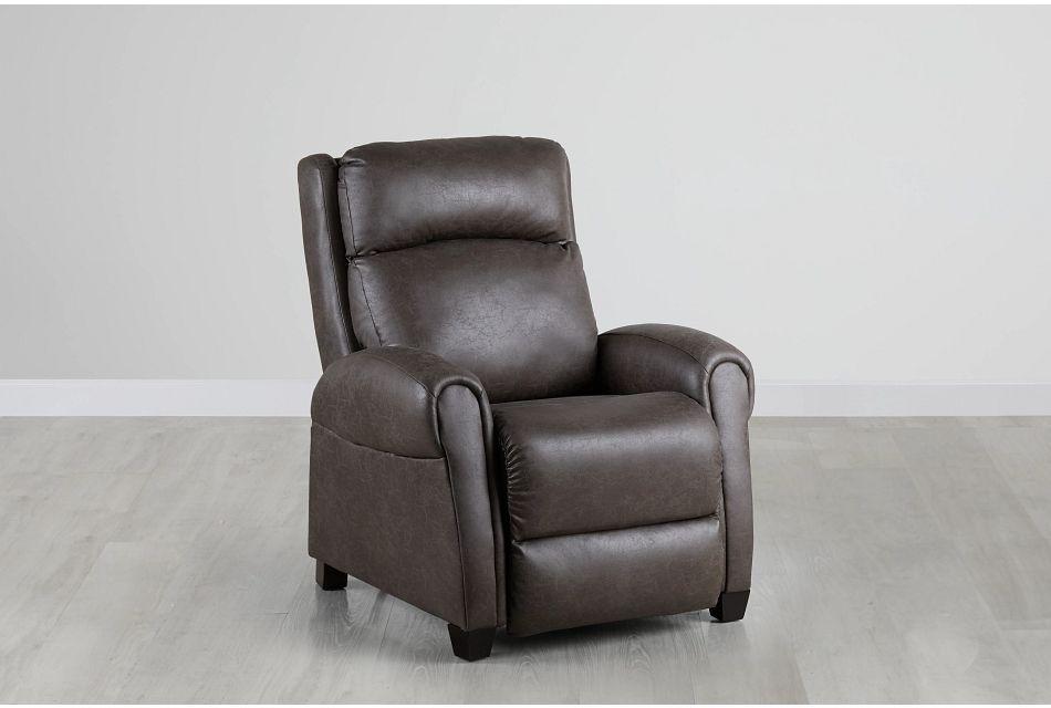 Wilson Dark Gray Micro Zero Gravity Power Recliner W/headrest