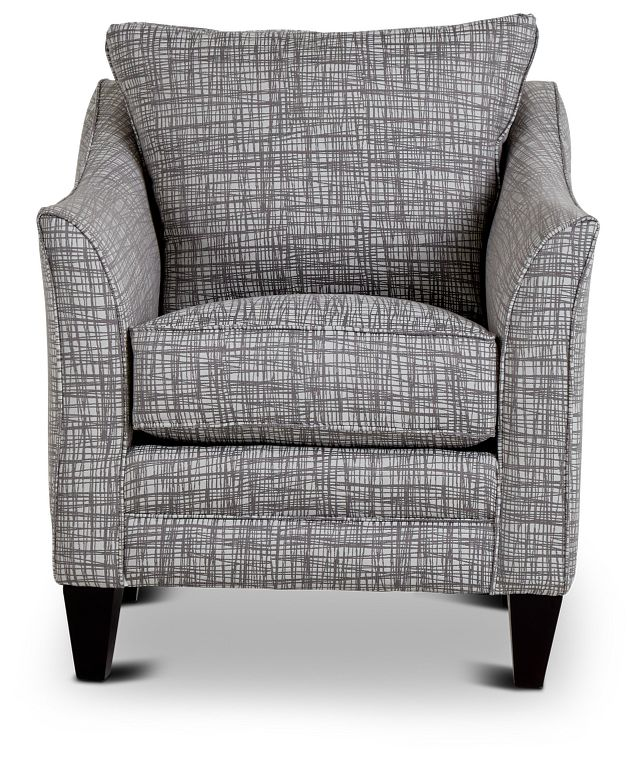 Hugo Gray Fabric Accent Chair (3)