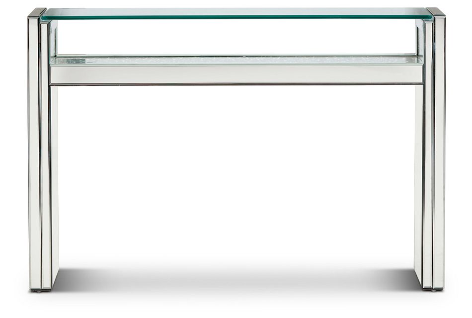 Katyin Silver Mirrored Console Table