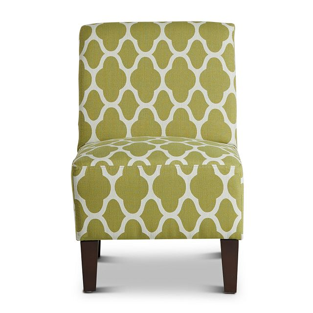 Comet Light Green Fabric Accent Chair (2)