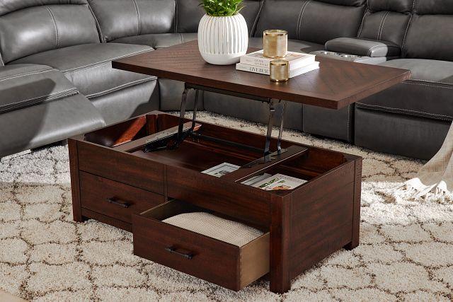 Jax Dark Tone Rect Lift Coffee Table