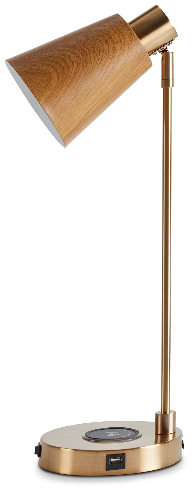 June Gold Wood Table Lamp (1)