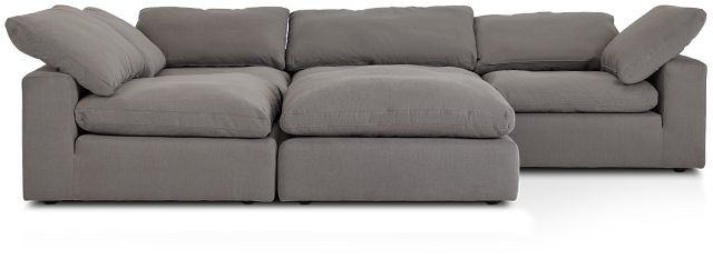 Nixon Light Gray Fabric 5pc Bumper Sectional (3)