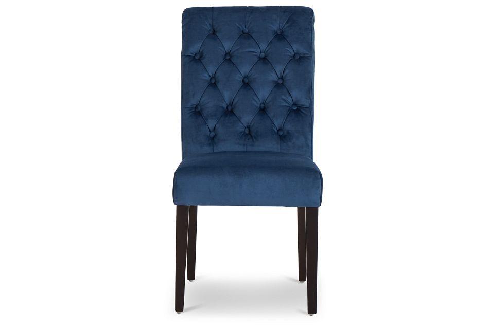 Sloane Dark Blue Upholstered Side Chair,  (3)