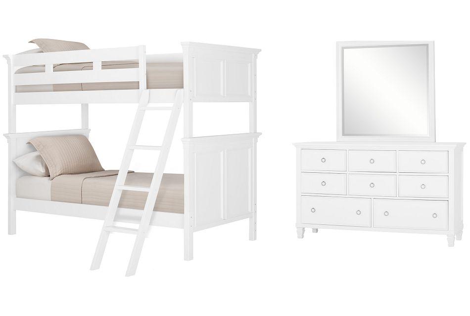 Tamara White Bunk Bed Bedroom Baby Kids Bedroom Sets City
