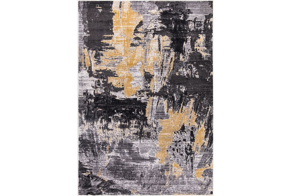 Denton Yellow 5x8 Area Rug