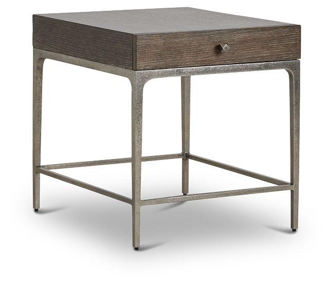 Linea Dark Tone Metal End Table (2)
