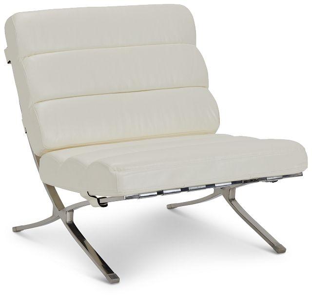 Tatiana White Micro Accent Chair (1)
