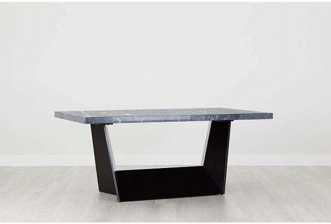 Auburn Dark Gray Marble Rectangular Table