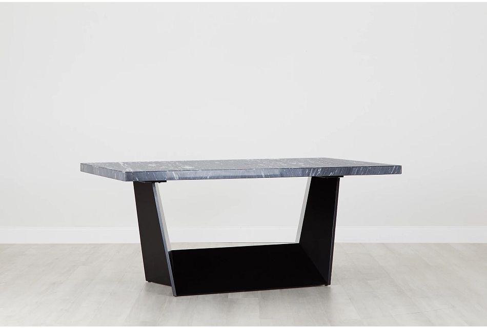 Auburn Dark Gray Marble Rectangular Table,  (0)