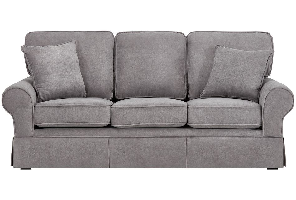 "Reese Dark Gray 80"" Sofa"