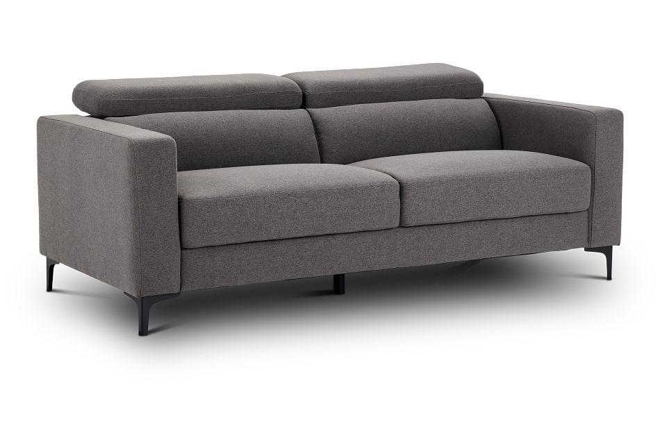 Trenton Dark Gray Fabric Sofa,  (2)