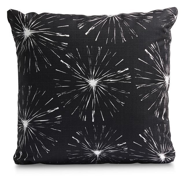 "Sparks Black 18"" Indoor/outdoor Accent Pillow (0)"