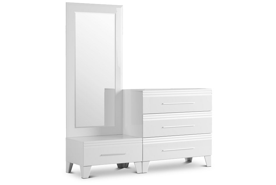 Midtown White Wardrobe Chest, One/size