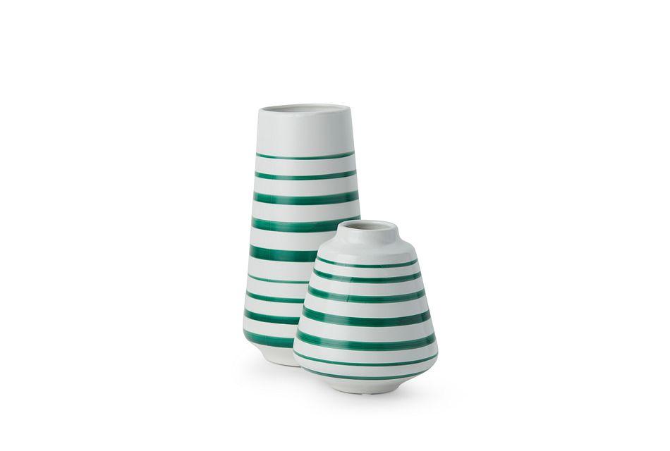 Halley Green Ceramic Vase