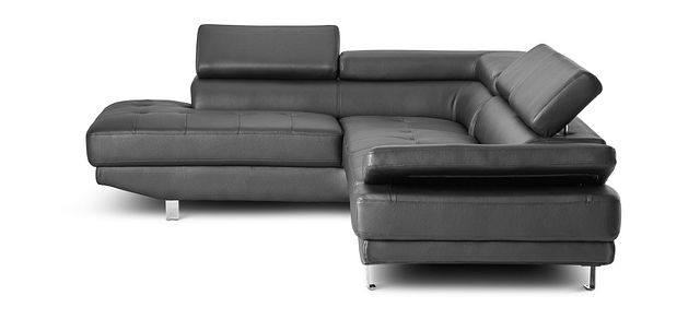 Zane Black Micro Left Chaise Sectional (3)