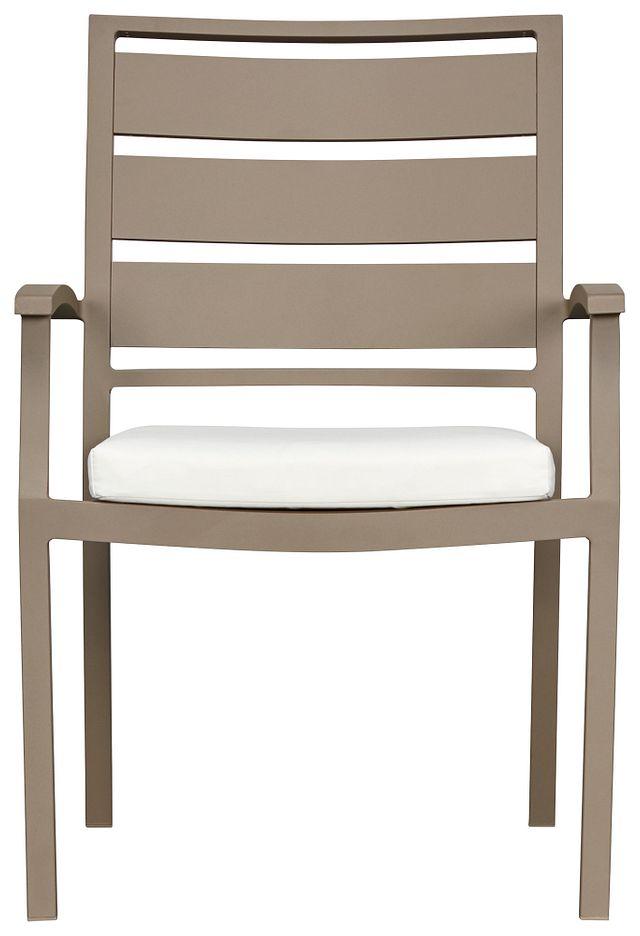 Raleigh White Aluminum Arm Chair (1)