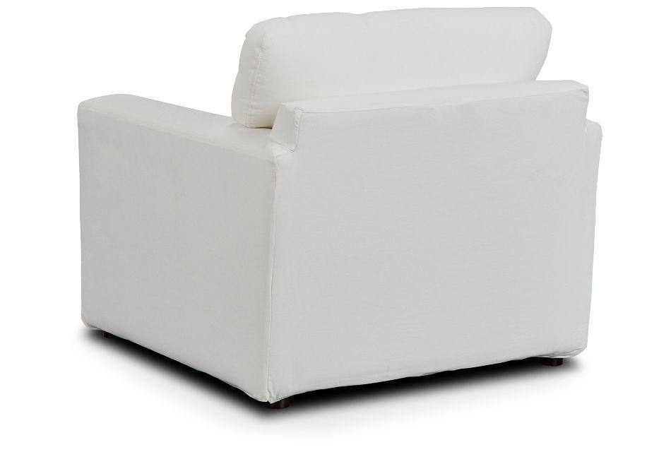 Poppy Light Beige Fabric Chair