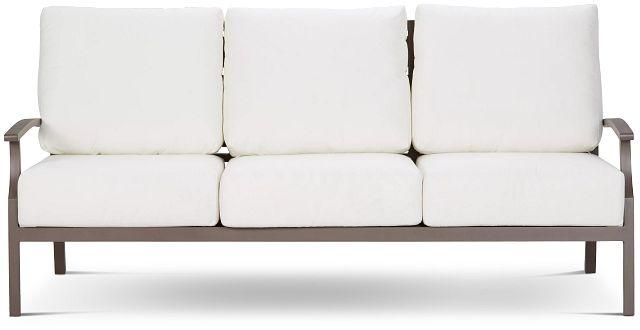 Raleigh White Aluminum Sofa (0)