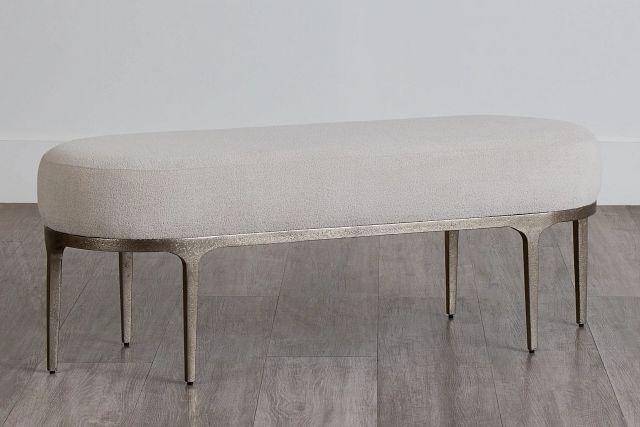 Linea Upholstered Metal Bench (0)