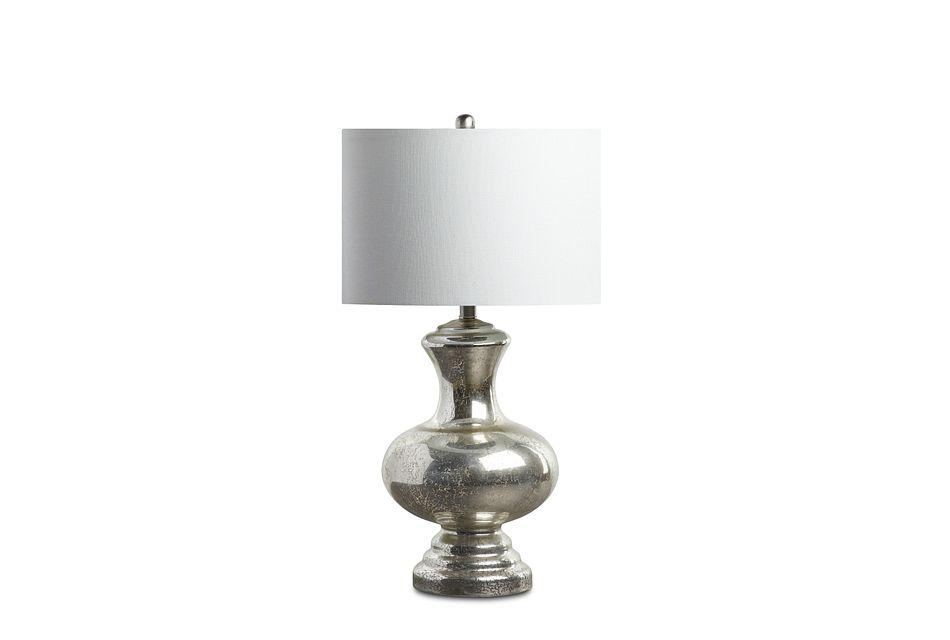 Suki Silver Glass Table Lamp