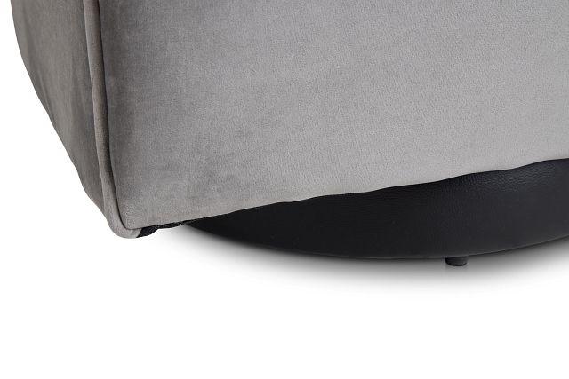 Charlotte Dark Gray Velvet Swivel Accent Chair