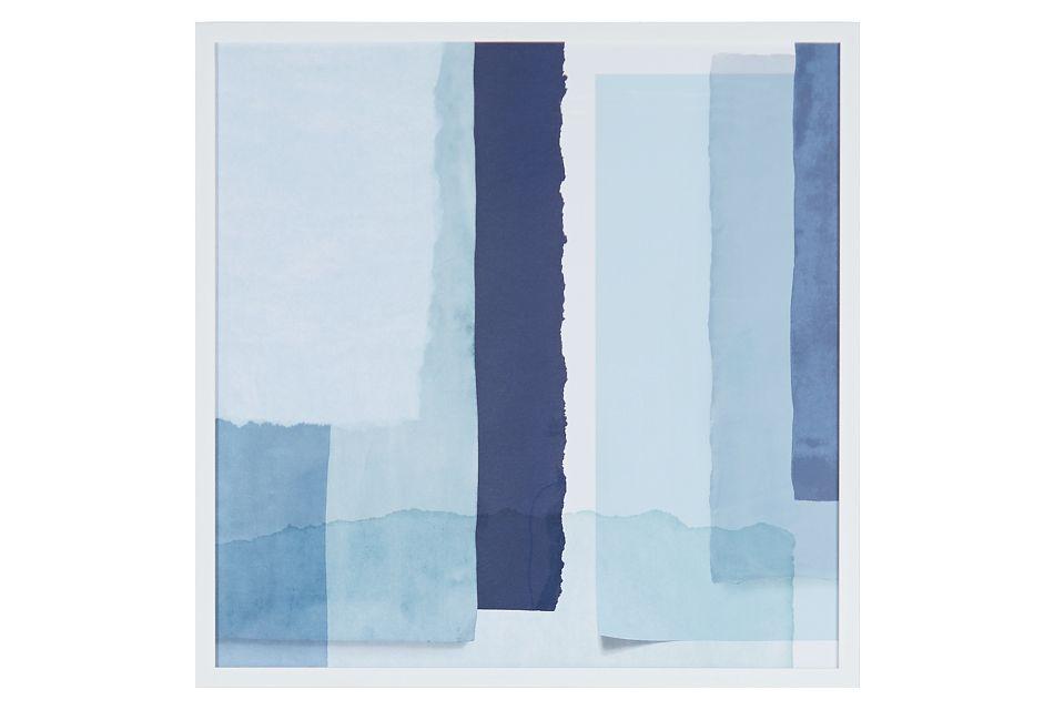 Seaglass Blue Framed Wall Art