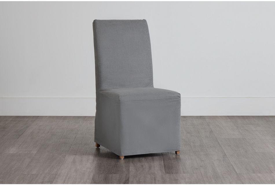 Destination Light Gray Long Slipcover Chair With Light Tone Leg,  (0)