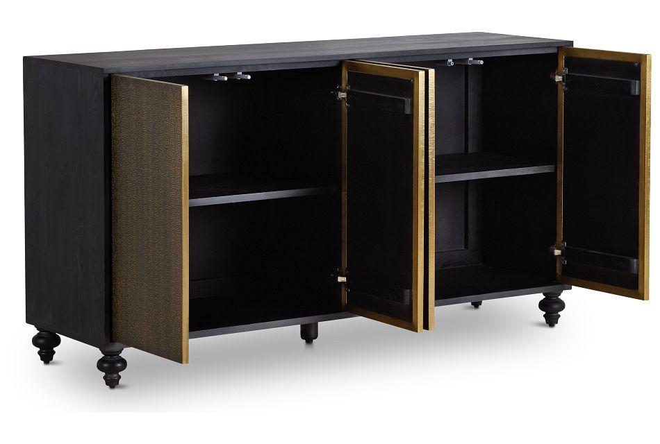 Makari Metal Four-door Cabinet
