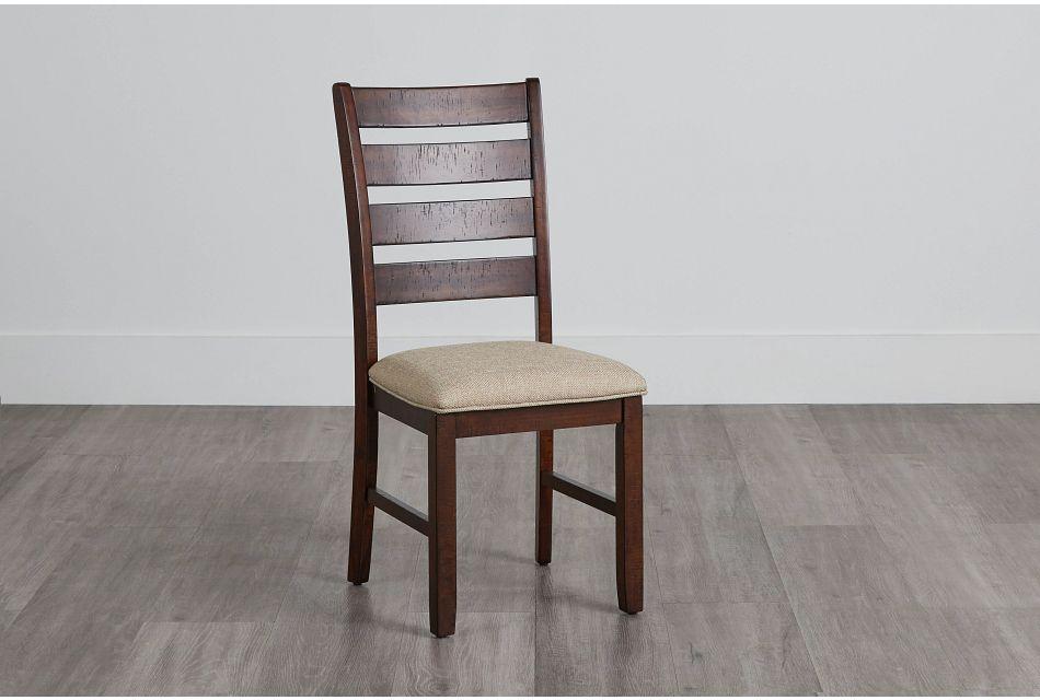 Jax Dark Tone Wood Side Chair