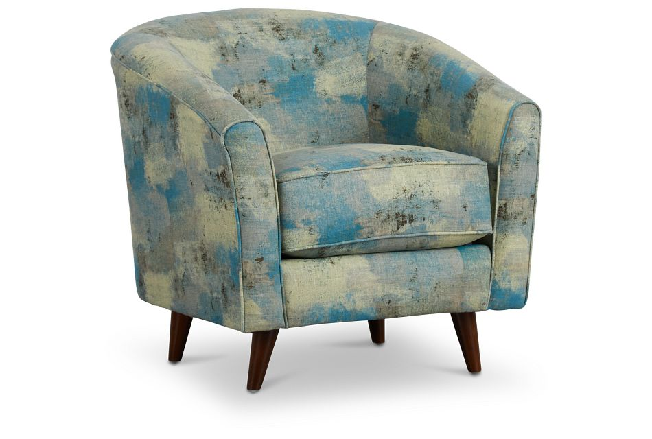 Antalya Teal Fabric Accent Chair,  (1)