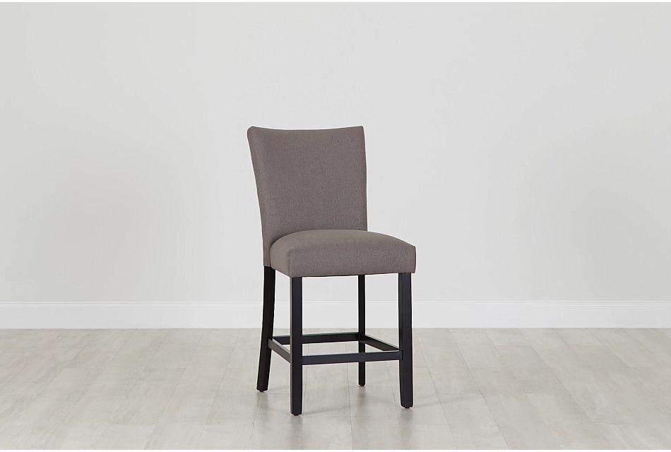 "Auburn Dark Gray Fabric 24"" Upholstered Barstool,  (0)"
