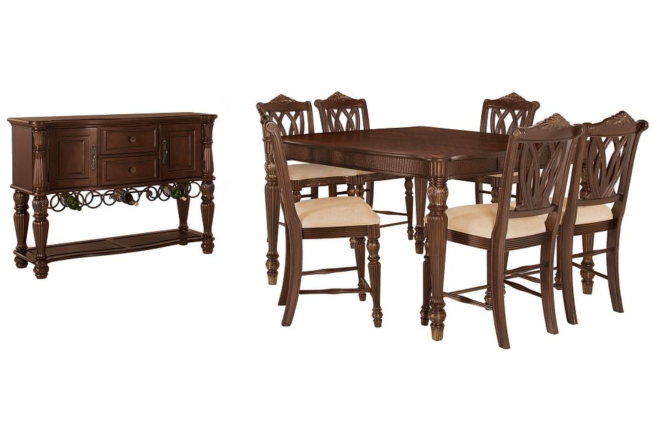 Tradewinds Dark Tone Square High Dining Room