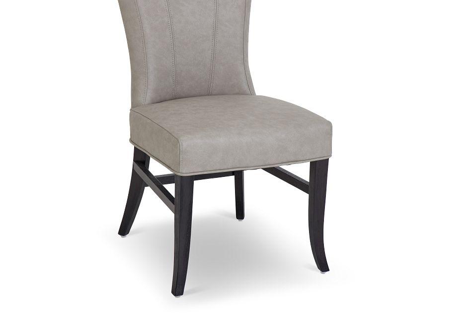 Lori Light Gray Micro Side Chair