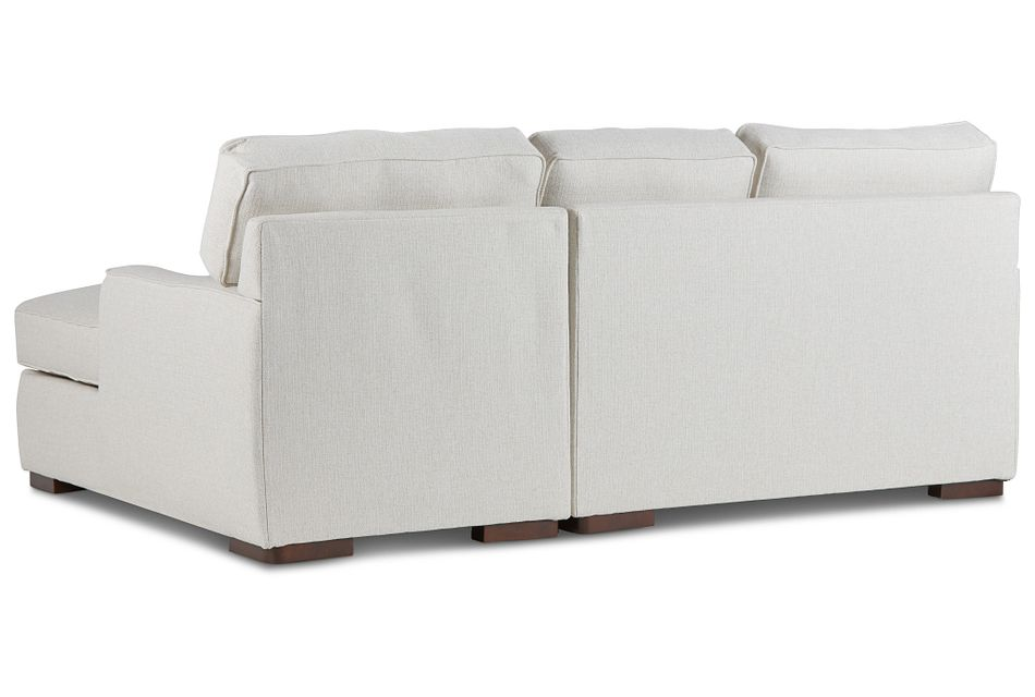 Austin White Fabric Right Chaise Sectional
